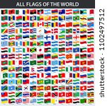 all flags of the world in... | Shutterstock . vector #1102497512