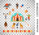 circus and fun fair elements in ... | Shutterstock . vector #1102508438