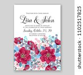 wedding invitation vector... | Shutterstock .eps vector #1102517825