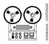 reel to reel tape recorder...   Shutterstock .eps vector #1102526636