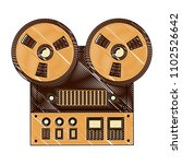 reel to reel tape recorder...   Shutterstock .eps vector #1102526642