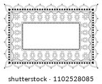 indian filigree dotted ornament ... | Shutterstock .eps vector #1102528085