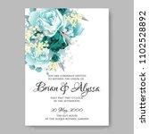 wedding invitation vector... | Shutterstock .eps vector #1102528892