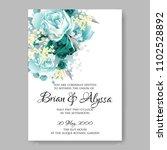 wedding invitation vector...   Shutterstock .eps vector #1102528892
