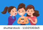 young caucasian white woman... | Shutterstock .eps vector #1102530365