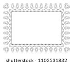 indian filigree dotted ornament ... | Shutterstock .eps vector #1102531832