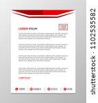 professional letterhead... | Shutterstock .eps vector #1102535582