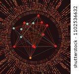 big genomic data visualization  ... | Shutterstock .eps vector #1102536632