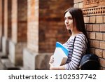 portrait of female university... | Shutterstock . vector #1102537742