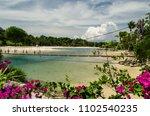 beautiful sentosa beach in... | Shutterstock . vector #1102540235