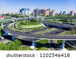 aerial view of a freeway... | Shutterstock . vector #1102546418