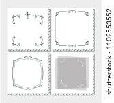 set of frames hand draw | Shutterstock .eps vector #1102553552