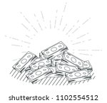 hand draw money and business... | Shutterstock .eps vector #1102554512