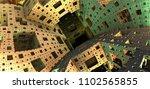 3d fractal   menger sponge from ...   Shutterstock . vector #1102565855