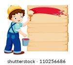 cartoon painter   vector...