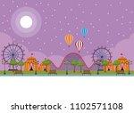 amusement park scenery   Shutterstock .eps vector #1102571108