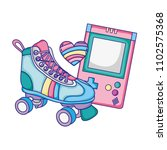 roller skate with electronic... | Shutterstock .eps vector #1102575368