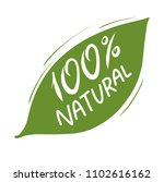 100  natural green hand drawn... | Shutterstock .eps vector #1102616162