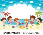 vector ilustration of summer... | Shutterstock .eps vector #1102628708