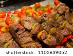 Small photo of barbecue, Bar-B-Q, grill, roast, barbecue, tread, stride, bake