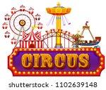 a fun fair circus banner... | Shutterstock .eps vector #1102639148