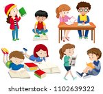 a set of good students ...   Shutterstock .eps vector #1102639322