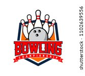 professional bowling club badge ... | Shutterstock .eps vector #1102639556