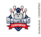 professional bowling club badge ... | Shutterstock .eps vector #1102639562