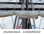 photograph of masts and... | Shutterstock . vector #1102640102