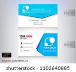 banner blue name card web design | Shutterstock .eps vector #1102640885