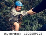 hand holding hand helping | Shutterstock . vector #1102659128
