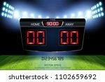 digital timing scoreboard ...   Shutterstock .eps vector #1102659692