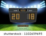 digital timing scoreboard ... | Shutterstock .eps vector #1102659695