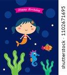 vector illustration of cute... | Shutterstock .eps vector #1102671695