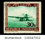 indonesia circa 1947  a stamp... | Shutterstock . vector #110267312
