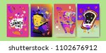 colorful summer poster set.... | Shutterstock .eps vector #1102676912