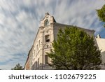 long exposure of the facade of... | Shutterstock . vector #1102679225