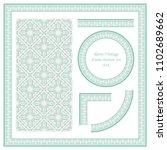vintage border seamless pattern ...   Shutterstock .eps vector #1102689662