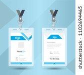 blue event staff id card set... | Shutterstock .eps vector #1102694465