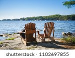 young woman sitting on a... | Shutterstock . vector #1102697855