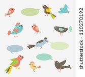 speaking birds with speech... | Shutterstock .eps vector #110270192