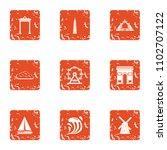mystery icons set. grunge set... | Shutterstock .eps vector #1102707122