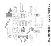 treat icons set. outline set of ... | Shutterstock .eps vector #1102708532