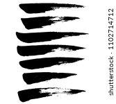 grunge ink brush strokes.... | Shutterstock .eps vector #1102714712