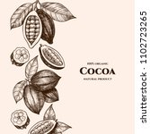 vector frame with cocoa. hand... | Shutterstock .eps vector #1102723265