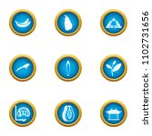 discover earth icons set. flat...   Shutterstock .eps vector #1102731656