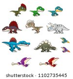collection of various dinosaur...