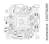 circuit board. electronic... | Shutterstock .eps vector #1102736285