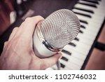 microphone in a recording studio | Shutterstock . vector #1102746032