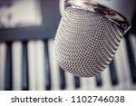 microphone in a recording studio | Shutterstock . vector #1102746038